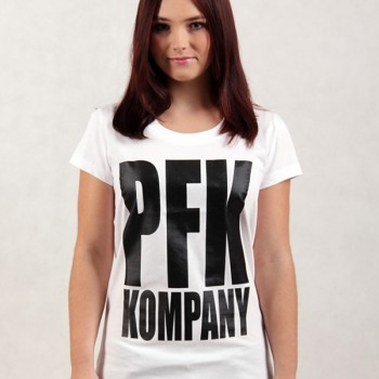 T-shirt PFK KOMPANY lady white