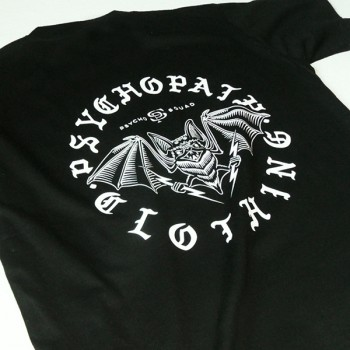 T-shirt Psychopath Psycho Bat black