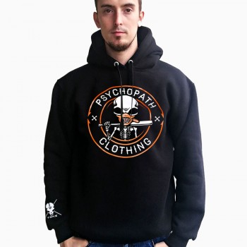 Bluza Psychopath Bad boy black z kapturem